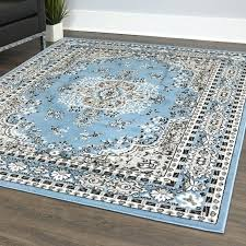 lilly oriental medallion light blue gray area rug mohawk caravan grand