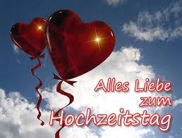 Herzen Im Himmel Zum Hochzeitstag Happy Anniversary