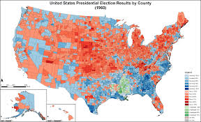 Presidental Election Results 1980 United States Presidential Election Result By County 1513 X 983
