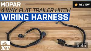 jeep wrangler mopar 4 way flat trailer hitch wiring harness 2007 jeep wrangler mopar 4 way flat trailer hitch wiring harness 2007 2017 jk review