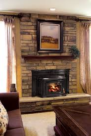 wood fireplace inserts with updated brick