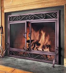 star fireplace screen solid steel and mesh fire screens texas lone star fireplace screen