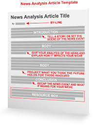 Writing A Newspaper Article News Analysis Article Template Article Writing Marketing