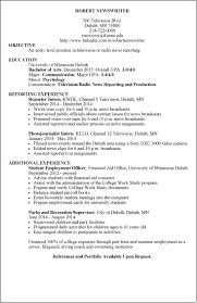 Adorable News Anchor Resume Sample In News Reporter Resume