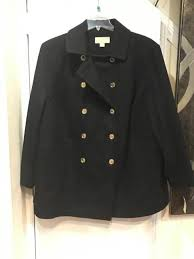 michael kors women s winter wool blend black peacoat military jacket plus 3x new