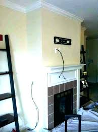 mantle tv mount mantel above fireplace ideas stone with over mounting