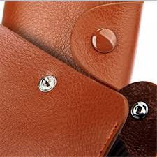 men and women genuine leather uni business card holder wallet bank credit card case id holders
