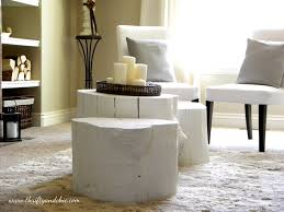 tree stump furniture ideas. Vintage Tree Stump Table Design For Your Furniture Ideas: Awesome White Ideas