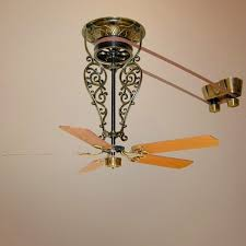 it antique brass ceiling fan with switch