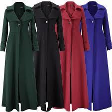 free 2016 women winter solid color full length woolen trench floor length coat for winter tz15700a