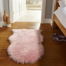 flair rugs faux fur sheepskin rug pink 60 x 90 cm