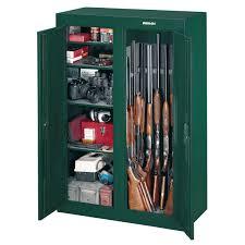 Stock On Gun Cabinet Stack On 16 Gun Double Door Security Cabinet Hunter Green