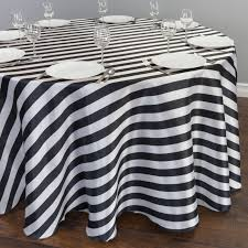 the most 120 in round black white striped satin tablecloth for weddings for black and white round tablecloth decor