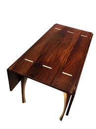 custom made drop leaf dining table solid walnut 48 inches square seats 8