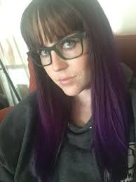 Brown And Purple Hair With Bangs