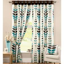 Printed Curtains Living Room Ochre Regan Collection Lined Pencil Pleat Curtains Living Room
