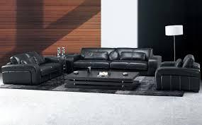 Black Leather Living Room Set S3NET Sectional sofas sale