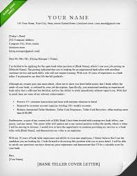 Examples Of Cover Letters For Resumes Custom Bank Teller Cover Letter Sample Resume Genius