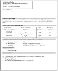 Fresher Resume Template Best of Fresher Resume Examples Bradfordpaus