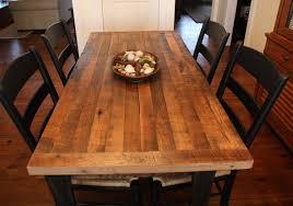 rustic butcher block table tops