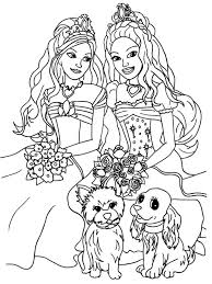 Barbie Coloring Pages For Girls To Print Barbie Coloring Pages With