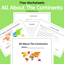 Here are the main reasons: Free Printable Continents Worksheets For Kids