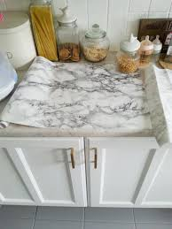 diy super easy marble look counters done contact paper ekbacken countertop white effect top