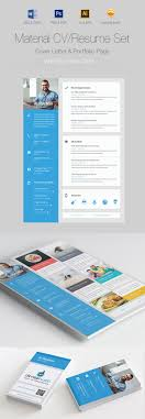 creative resume templates to land a new job in style material cvresume design set
