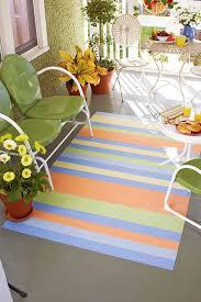 paint a striped porch rug