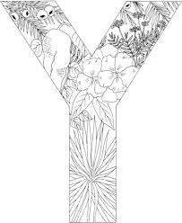 Small Picture Letter Y with Plants coloring page Free Printable Coloring Pages