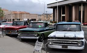 Just A Car Guy: Coincidental parking of 3 1966 Chevy trucks let me ...