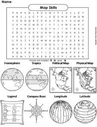 Small Picture Map Skills Worksheet Word Search Coloring Sheet by Science Spot