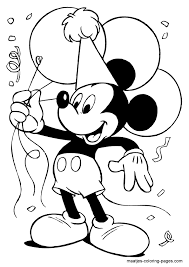 Mickey Mouse Coloring Pages Free Printable Click On The Mickey
