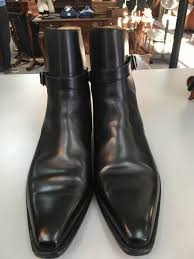 details about romano martegani men s black leather dress ankle boots size 12 made in italy