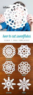 how to cut snowflakes {video tutorial + free templates