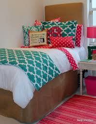 enchanting cute bedspreads with decorative pillows and brown bedskirt plus  bedside table for teenage girl bedroom