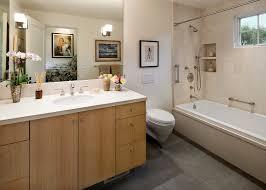 santa barbara waterfall shower curtain with transitional towel bars bathroom mediterranean and three wall alcove bathtub