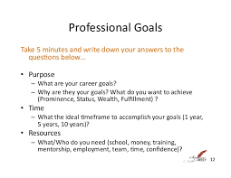what are your professional goals mind map write the vision make it happen