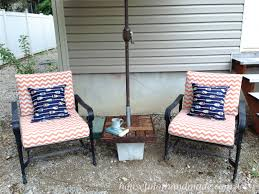 make your own garden furniture. make your own umbrella stand with a side table for cheap makes the perfect seating garden furniture m