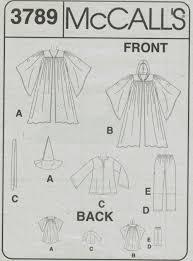 Harry Potter Robe Pattern Cool McCalls Pattern 48 Costume Wizard Gandolf Star Wars Harry Potter