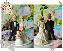 wedding cake toppers, custom cake topper, funny cake toppers, cake Wedding Cake Toppers Ginger Groom wedding cake topper custom made blonde bride and ginger hair groom with little girl Funny Wedding Cake Toppers
