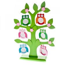 gisela graham owl family tree wooden photo frame