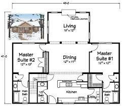 House Plans With Two Master Suites  Suite Two Story House Plan    Floor Plans   Two Master Suites