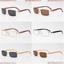 luxury brand wooden sunglasses for womens mens retro buffalo horn glasses black brown clear lenses color full rimless designer sunglasses 405185287
