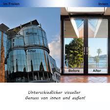 Zjelky Folie Fenster Verdunkelungsfolie Fensterfolie Spiegel Tönungsfolie Kratzfest Wärmeisolierung Uv Schutz Silber 90 X 210 Cm