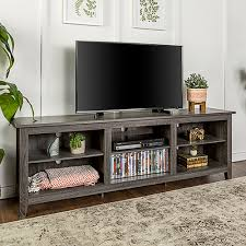 walker edison furniture co 70 inch wood media tv stand storage console charcoal