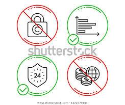 Do Stop 24 Hours Copyright Locker Stock Vector Royalty Free