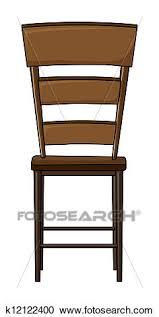 wooden chair clipart.  Wooden Clipart  A Wooden Chair Fotosearch Search Clip Art Illustration  Murals Drawings To Wooden Chair I