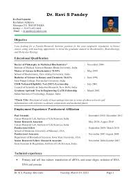 sample resume of assistant professor s objective i am looking for a faculty  research scientist position