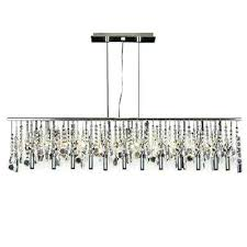 modern linear chandelier light chrome contemporary broadway crystal lighting lamp